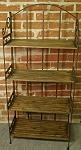 Regale Großes Regal Gebranntes Holz Eisen
