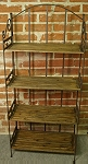 Moebel Regale-Shop Großes Regal Gebranntes Holz Eisen