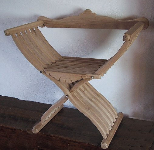 Bild Nr. 3 Scherenstuhl mit Rückenlehne