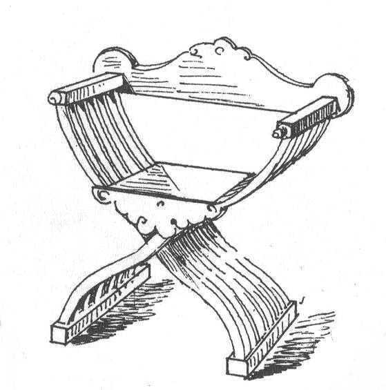 Bild Nr. 6 Scherenstuhl mit Rückenlehne