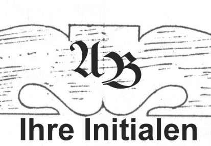 Bild Nr. 2 Initialengravur für Scherenstuhl