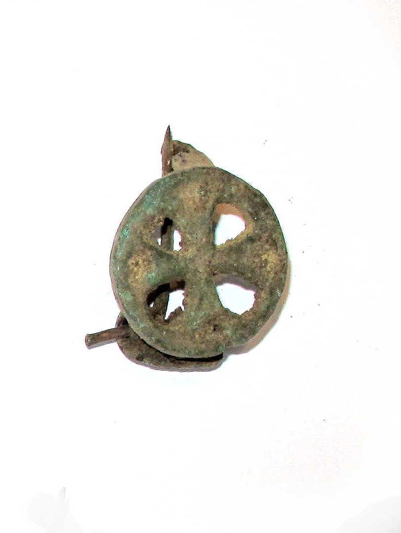 Replik runde Kreuzfibel Römisch