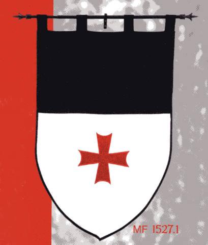 Templerbanner Banner des Templerordens