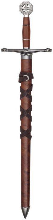 Tempelritter-Kurzschwert mit Scheide