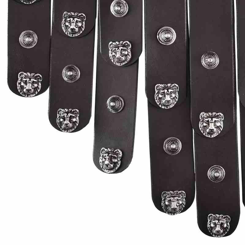Bild Nr. 2 Römischer Ledergürtel schwarz silber