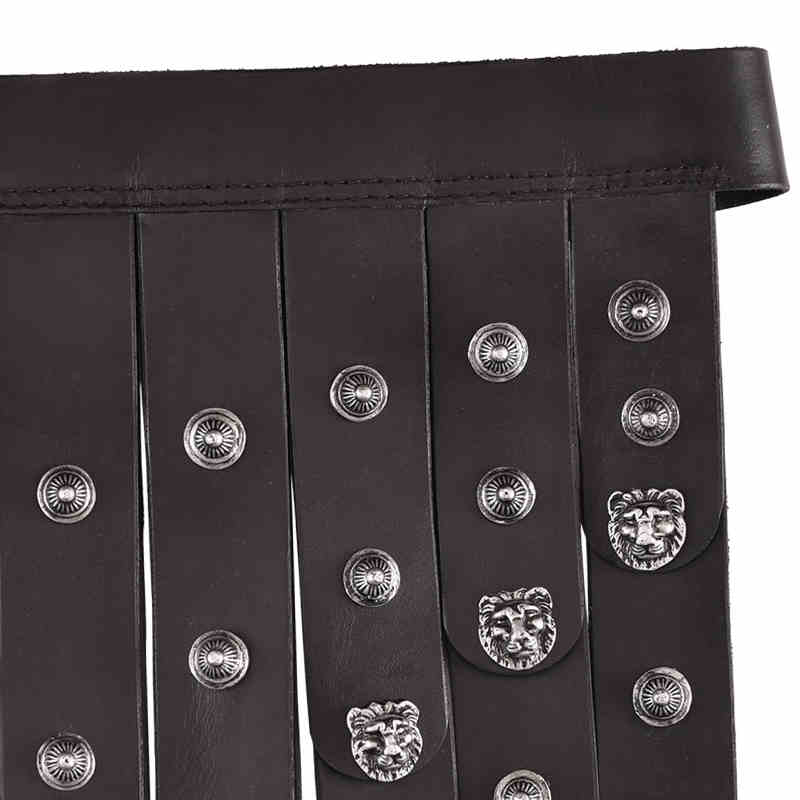 Bild Nr. 3 Römischer Ledergürtel schwarz silber