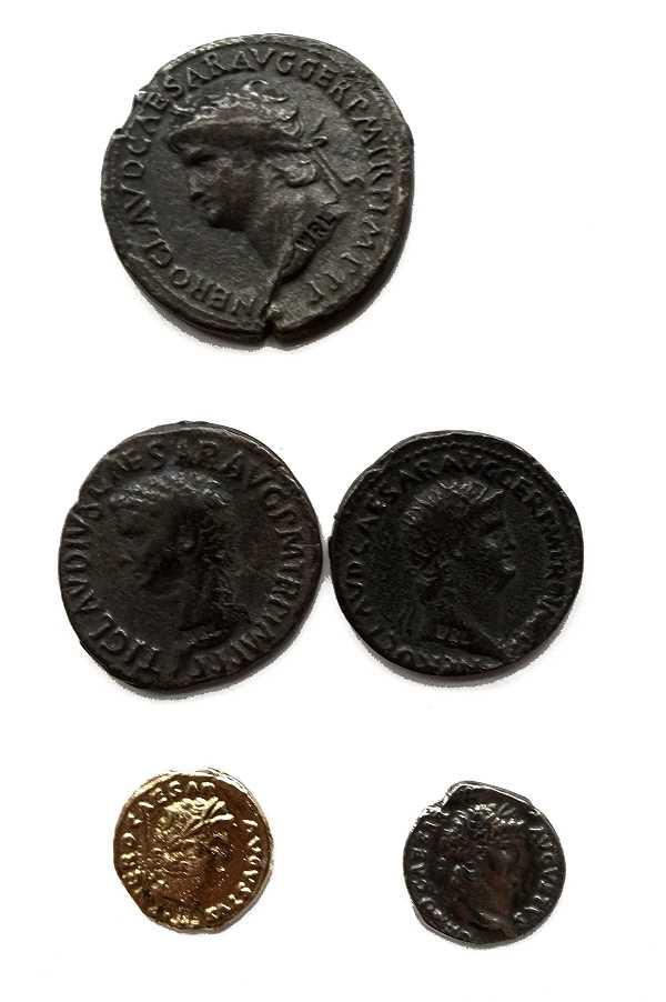 Bild Nr. 2 Münzbeutel Nero Römische Münzen