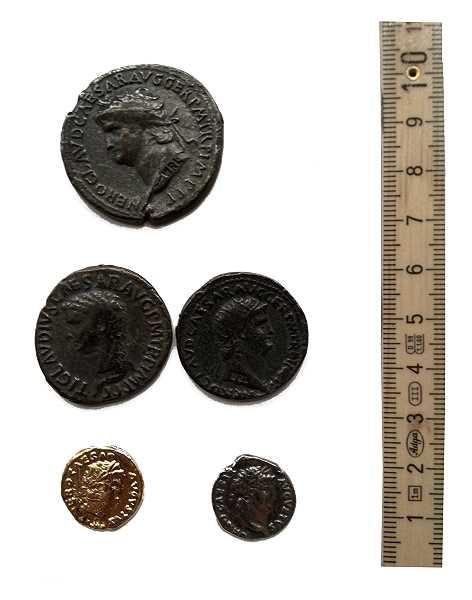 Bild Nr. 6 Münzbeutel Nero Römische Münzen