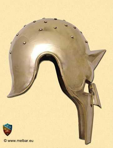 Bild Nr. 2 Gladiator Arena Helm Messing mit Lederinlay