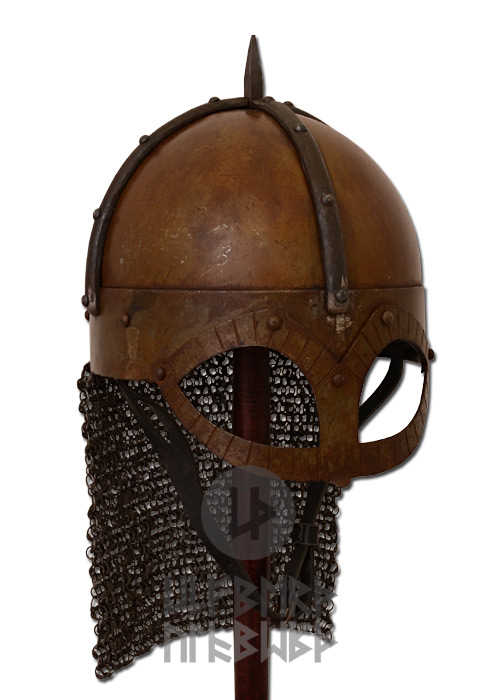 Bild Nr. 2 Gjermundbu Helm mit vernieteter Brünne Stahl