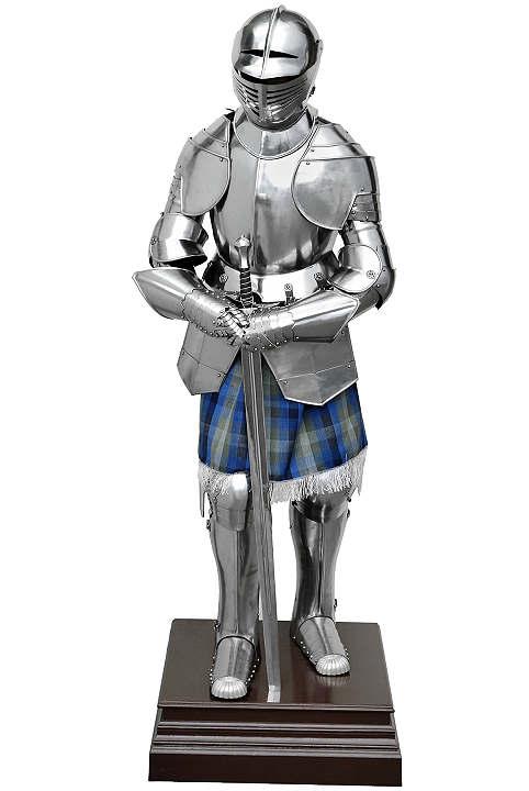 Ritterrüstung mit Schwert und Ständer
