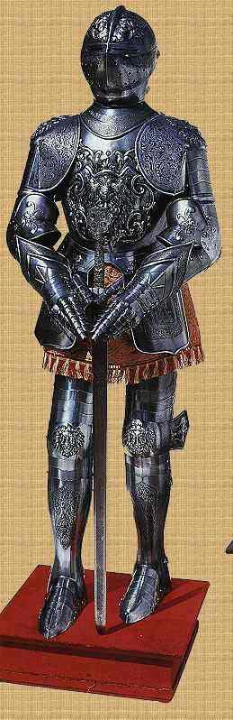 Ritterrüstung ornamentiert 15. Jh