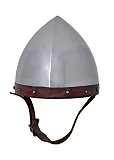 Helm der Bogenschützen Stahl mit Lederinlet