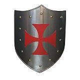 Schilde Templer-Schild mit rotem Tatzenkreut