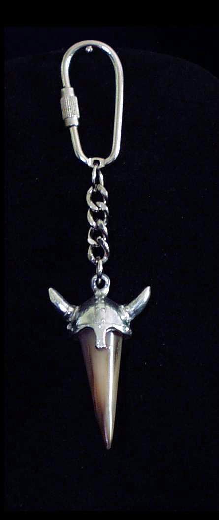 Schlüsselanhänger Wikinger Helm mit Hornspitze