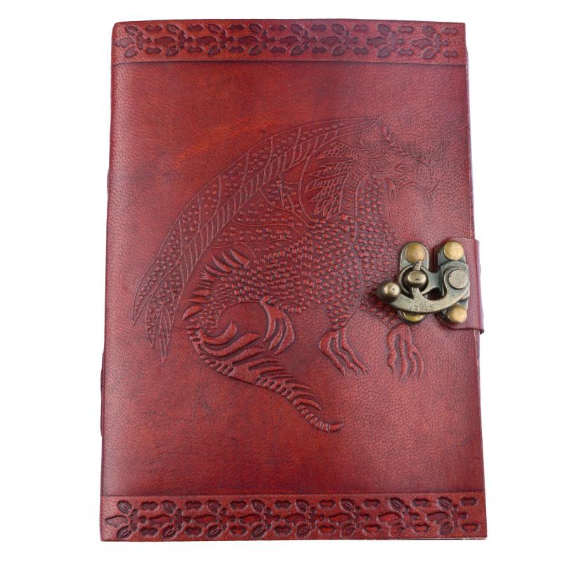 Bild Nr. 2 Notizbuch Handgemacht Ledereinband Drachen