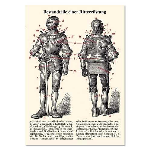 Bild Nr. 3 Karten Set Mittelalter Info II