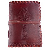 Papiere Notizbuch Ledereinband Keltisches Kreuz