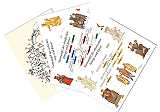 Papiere Karten Set Mittelalter Info I