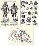 Papiere Karten Set Mittelalter Info II