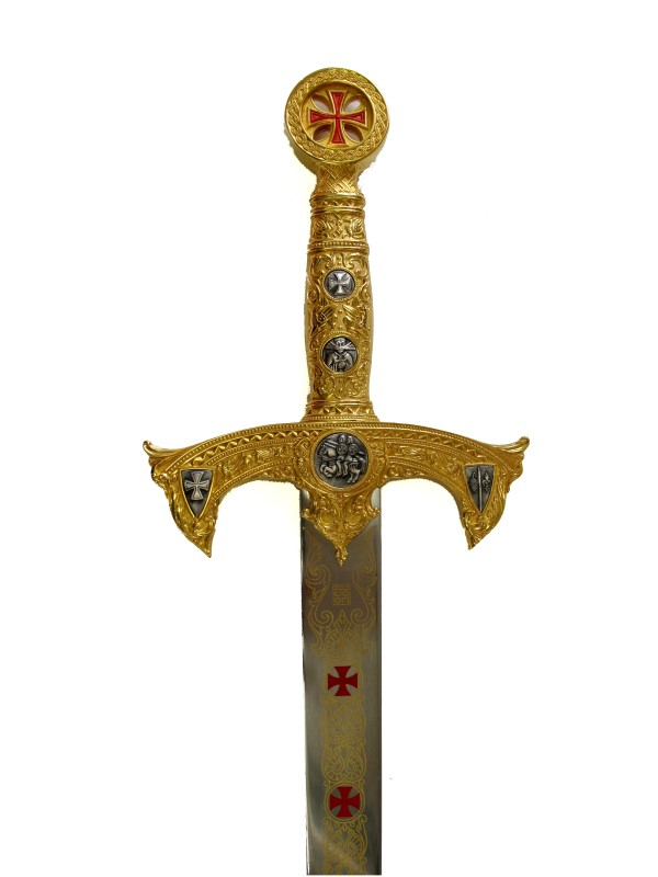 Schwert der Tempelritter Gold Abb. Nr. 3