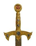 Schuhe Schwert der Tempelritter Gold