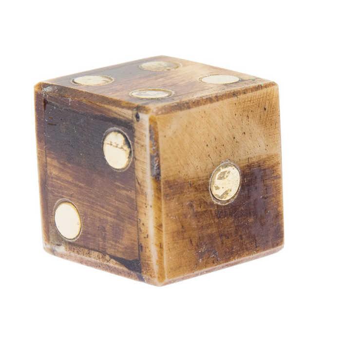 Bild Nr. 2 Knochenwüfel-Set mit Samtbeutel