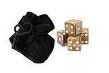Spiele Knochenwüfel-Set mit Samtbeutel