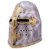 Mittelalter Spiele Shop Topfhelm  LARP Kinder Helm