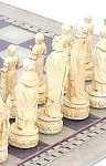 Schachspiel Mittelalter Schw.-weiss
