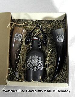Bild Nr. 2 Geschenkset Trinkhörner und Met 5tlg.