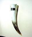 Schmuck-Trinkhoerner Trinkhorn mit Zinnband