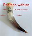 Mein-Trinkhorn Position für Aplikationen